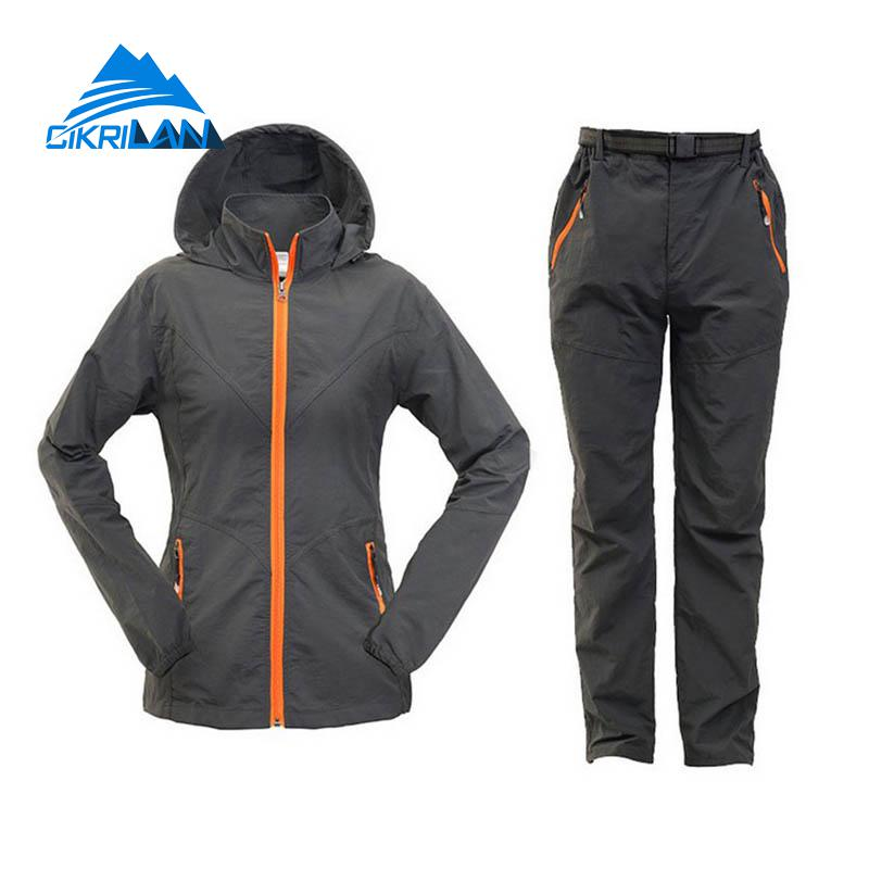 light weight water proof outdoor jacket and trousers for women