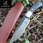 DAOMACHEN  Hunting camping Knife Full Tang Knife Pure hand forged steel blade outdoor knife  Fix blade knife