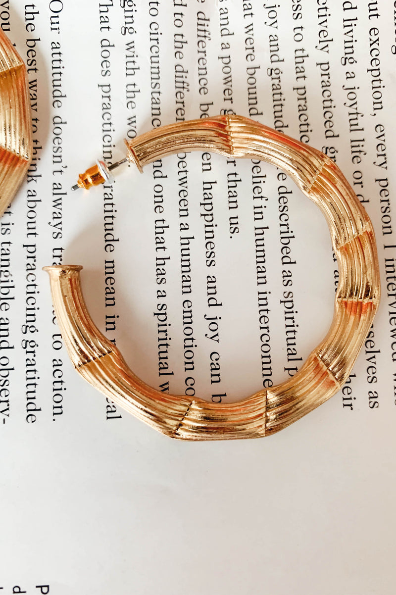 Bamboo Beauty Hoops