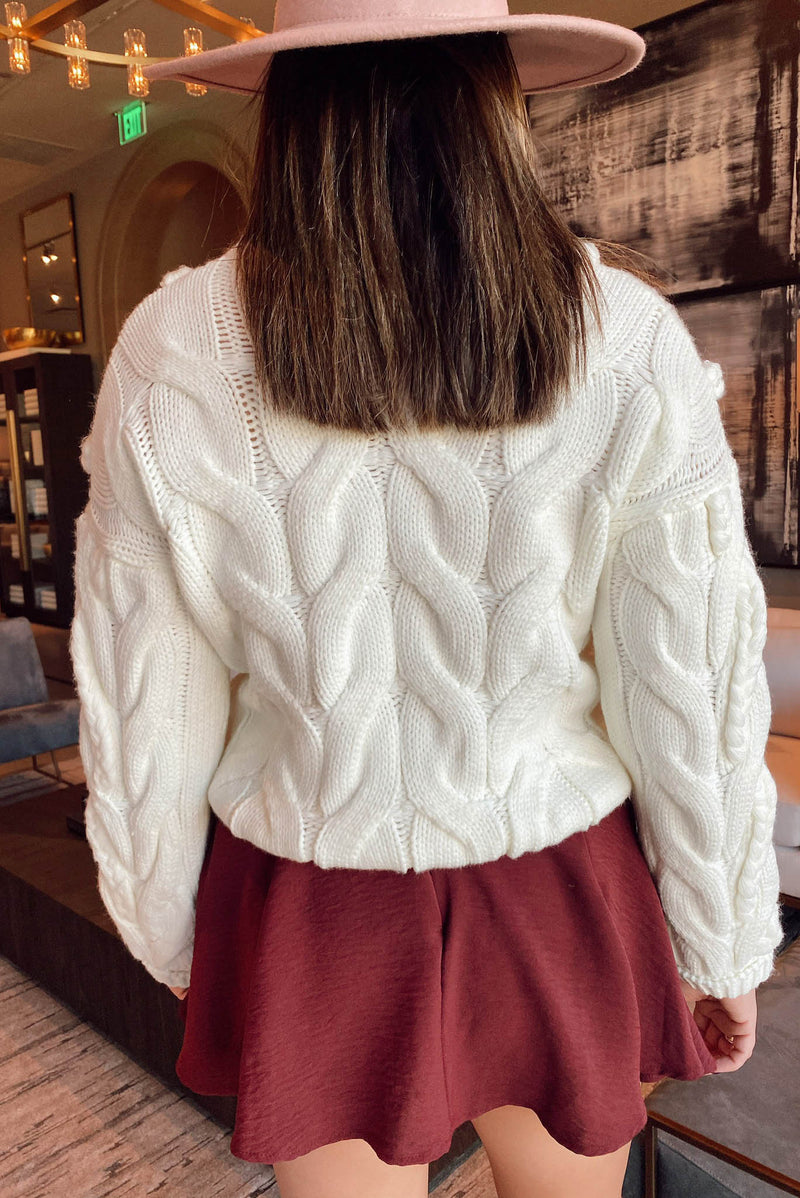 Blue Ridge Bound Sweater in Ivory
