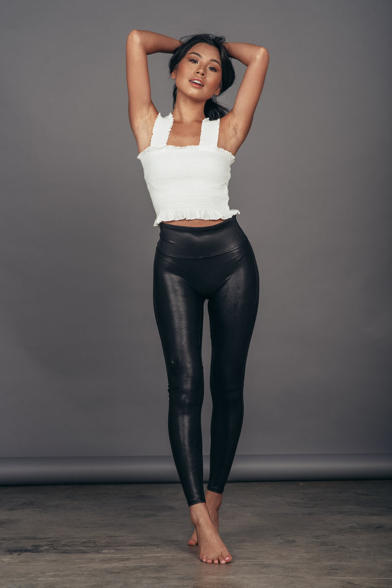 Spanx Faux Leather Leggings-Petite