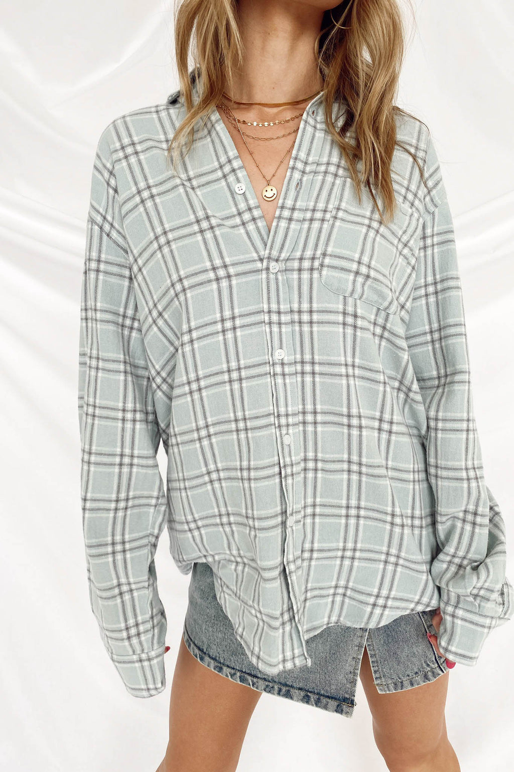 Mind Over Matter Plaid Top