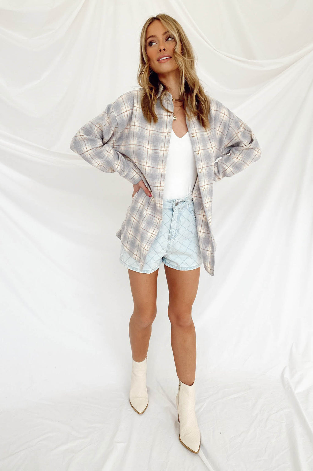 Pattern Play Plaid Shacket