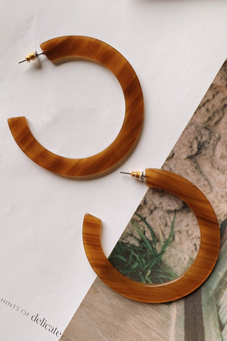 Earth Tone Hoops