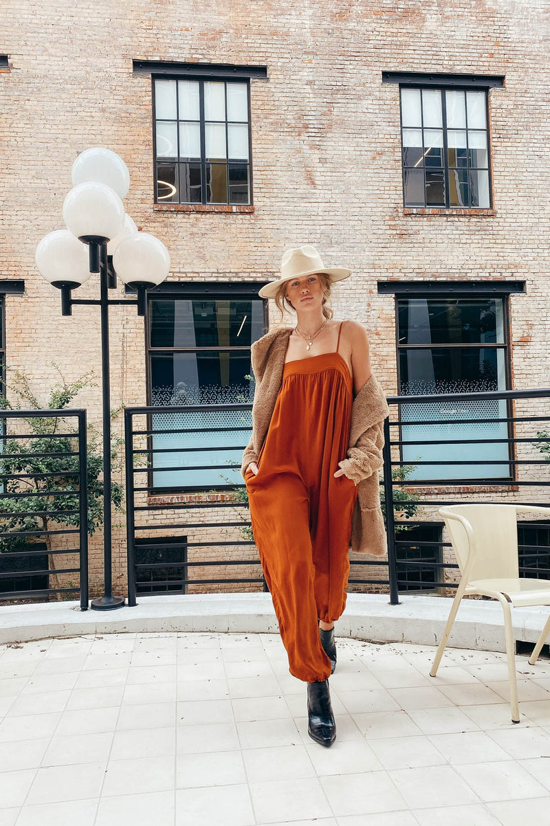 Caroline Jumpsuit in Brown
