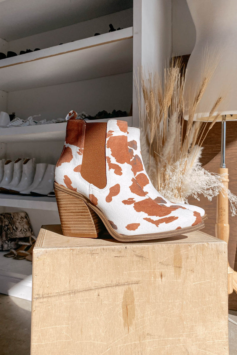 Caden Cowhide Booties