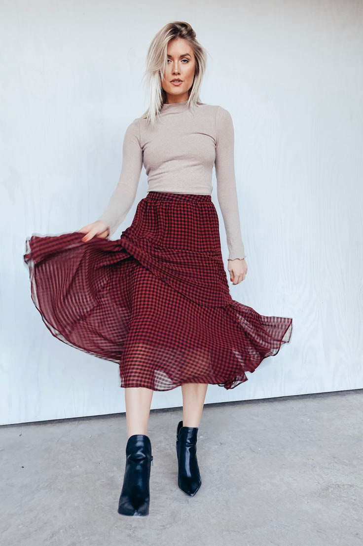In the Midi of the Night Skirt