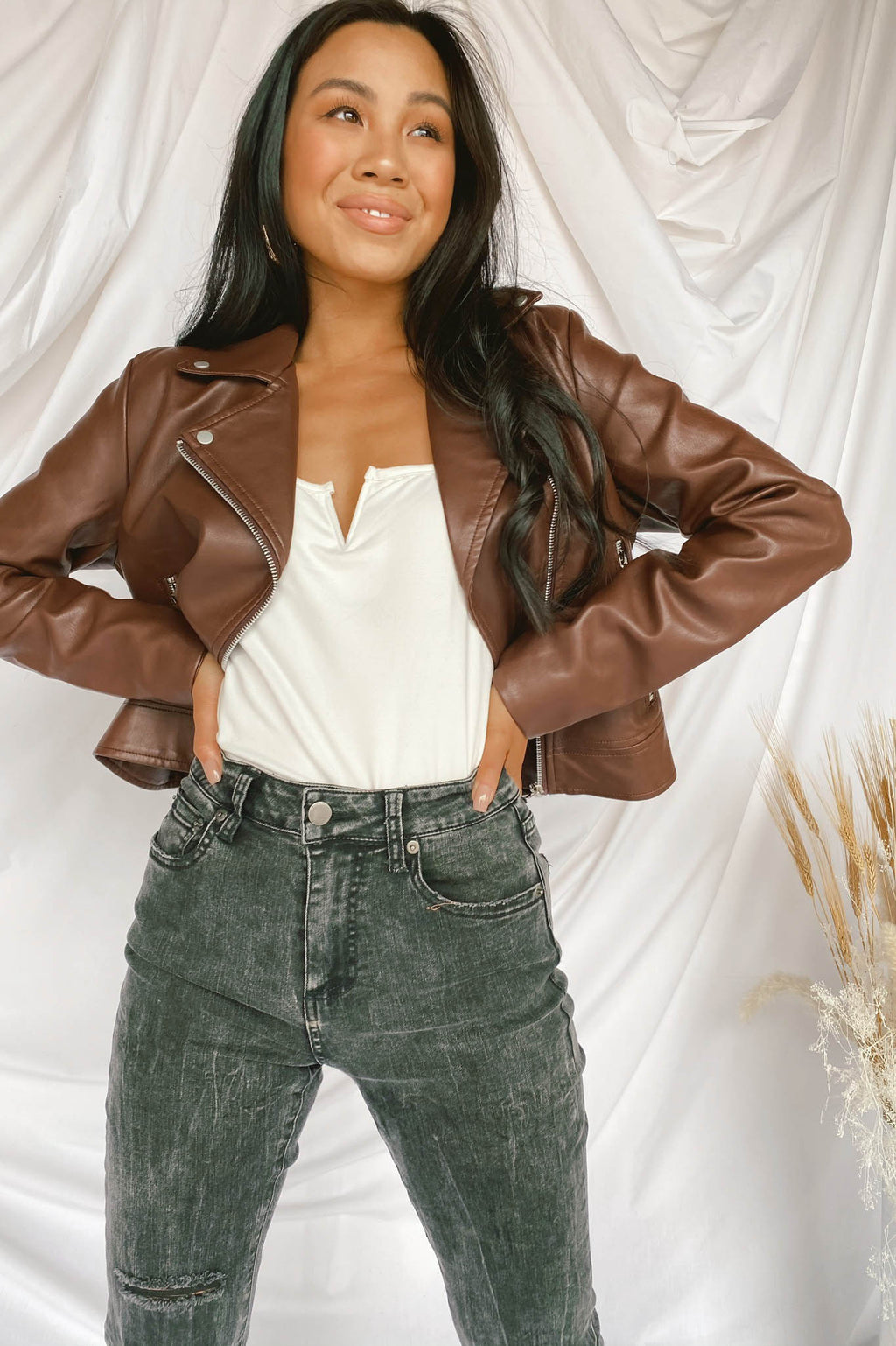 Bella Bomber Jacket in Brown