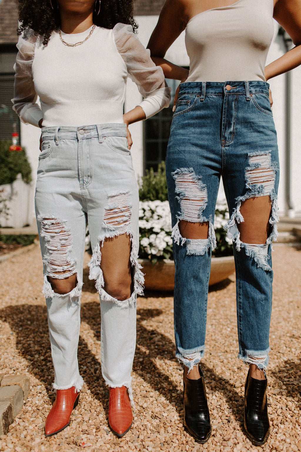 De-Stressed Mom Jeans Dark Wash