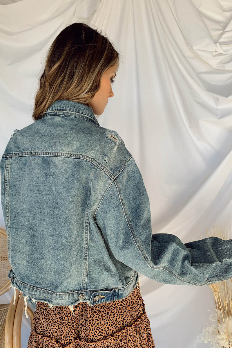Glamping Jacket in Denim
