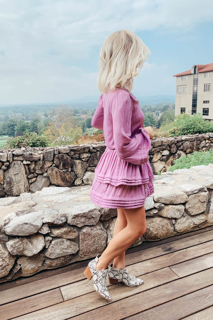 Layered in Lilac Dress