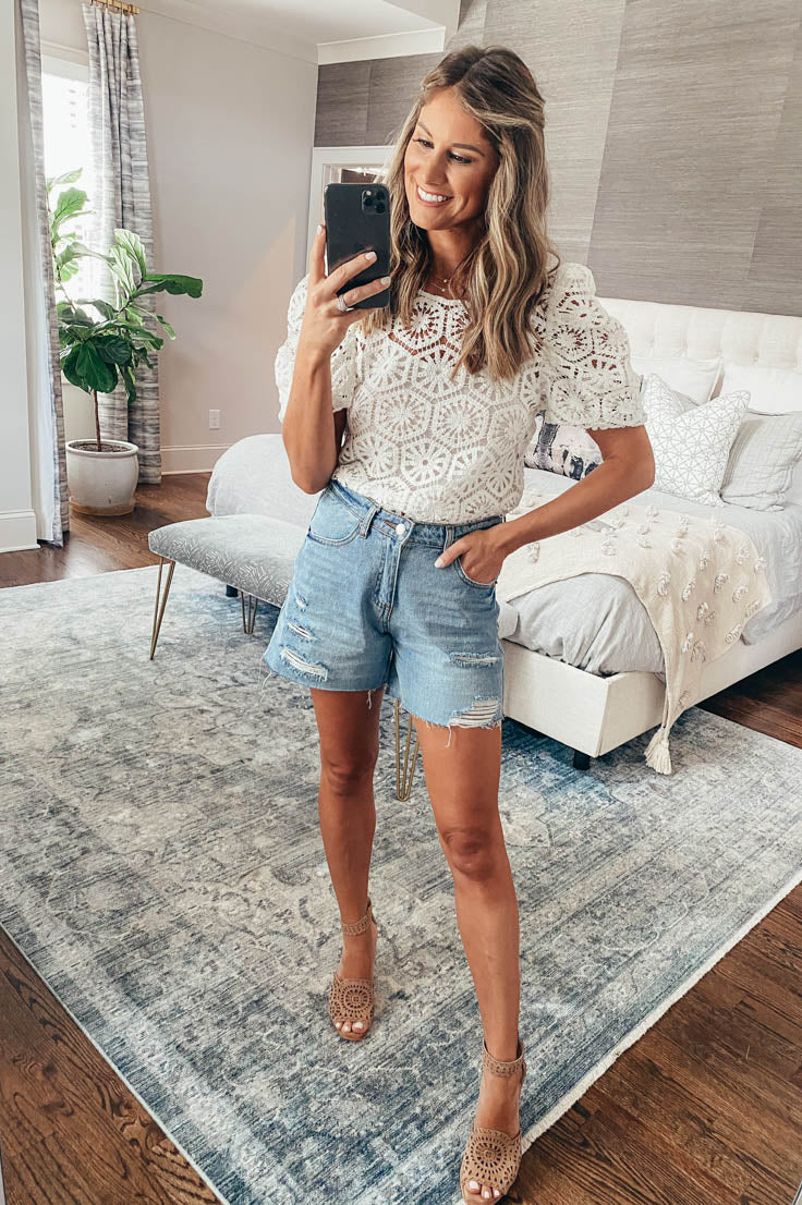 One Up Denim Shorts