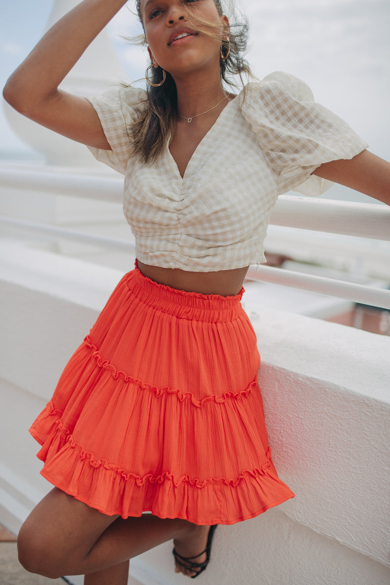 Falling For You Skirt in Tomato
