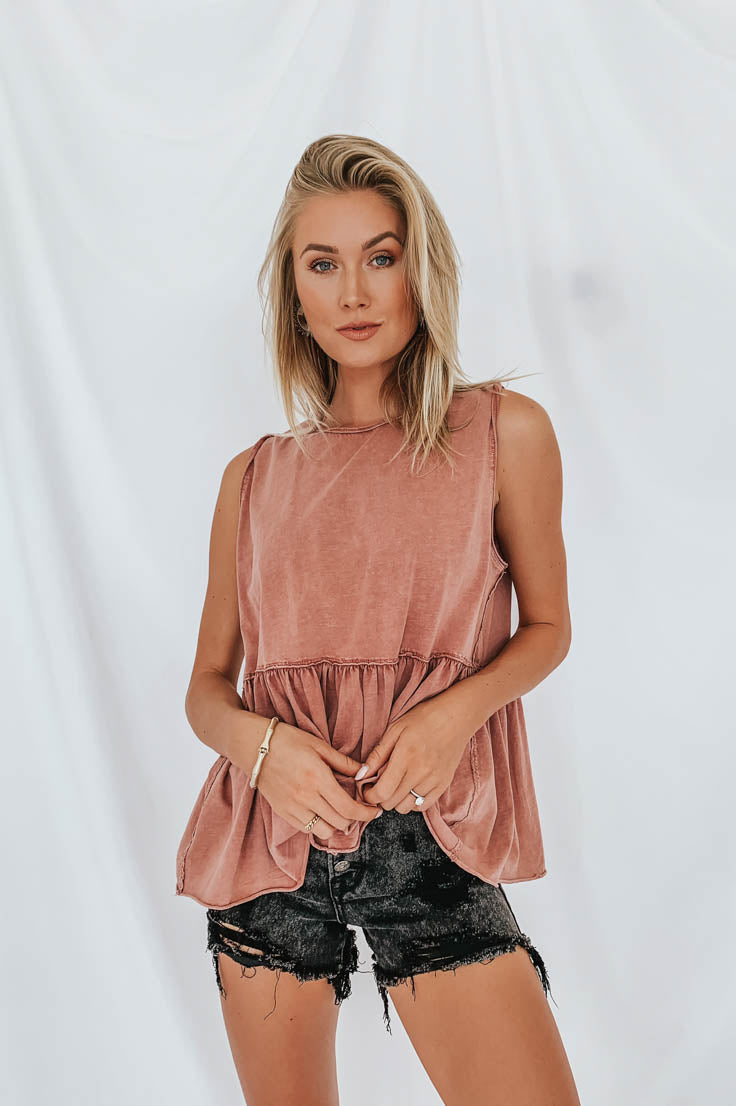 Deana Top in Rose