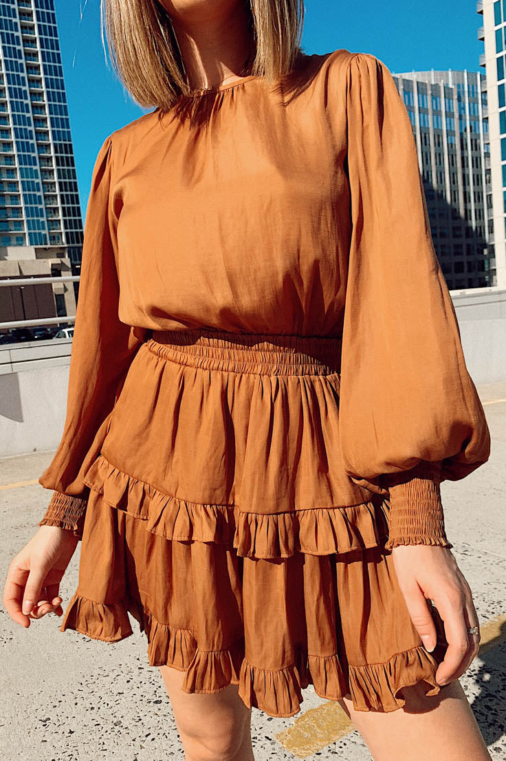 False Promises Dress-Rust