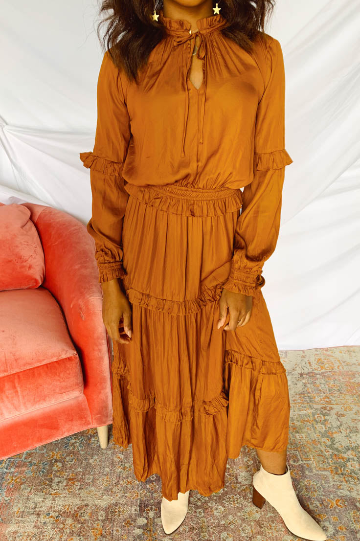 My Victory Maxi Dress- Rust