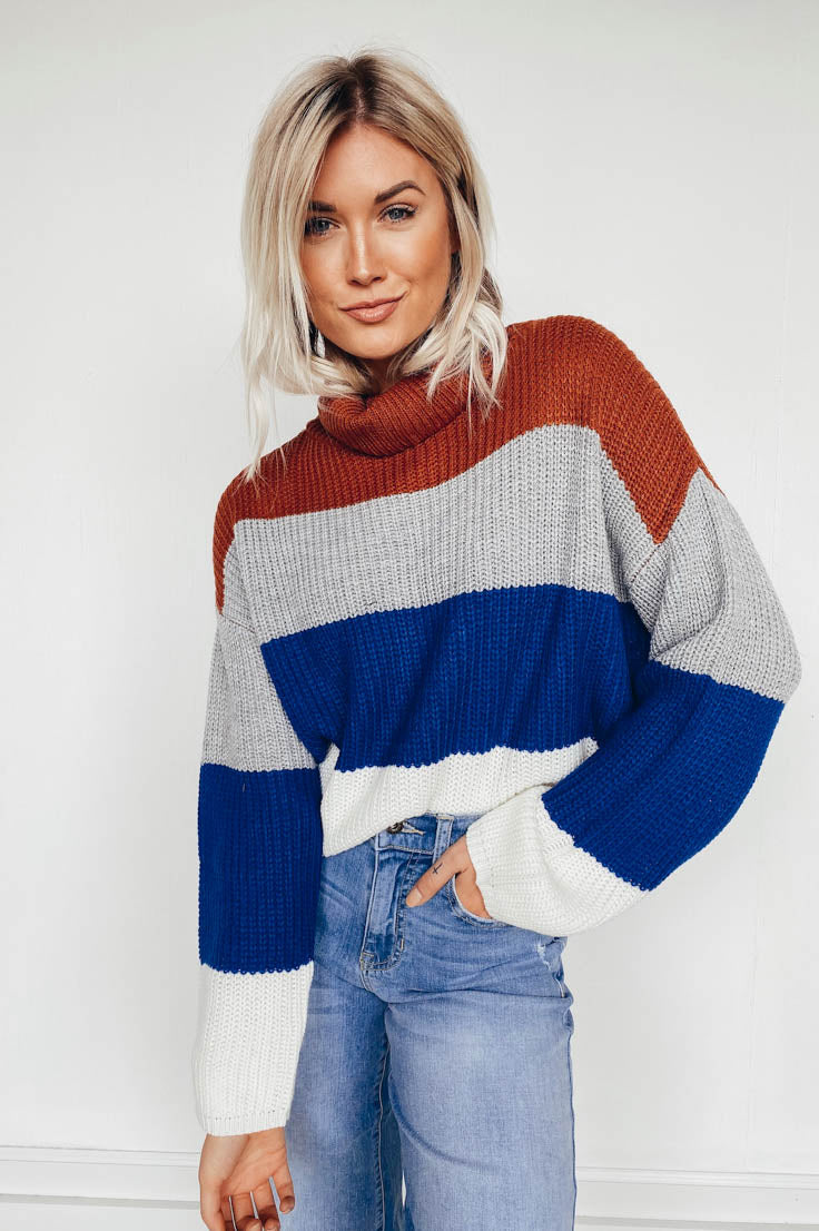 Firefly Catching Days Sweater-Blue