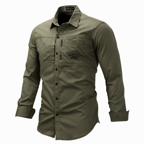 Large Size Mens Tactical Shirt Male Long Sleeve Lapel Army Shirt Cotton Tops Outdoor Sports Military Shirts Training Clothes