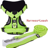 Reflective Pet Dog Harness Leash Set Training Heavy Vest for Dogs Adjustable Professional K9 Harnesses Dogs Supplies Products