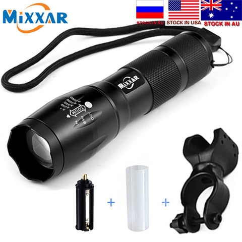 ZK30 Dropship Q250 TL360 T6 8000LM LED Bike Bicycle Flashlight Light Q5 3000LM Zoomable Focus Torch Lamp Light Tactical Lantern