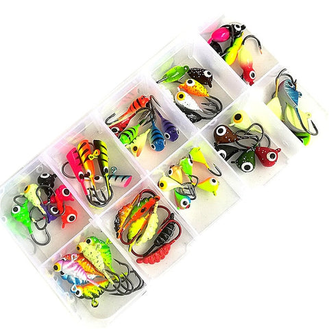 Winter Ice Fishing Lure Hard Bait Pesca Tackle  Swimbait With Jig head hook Isca Artificial Bait Crankbait Sharp Metal Fishing H