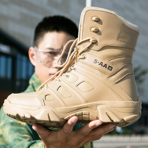 Autumn Winter Trend Outdoor Tactical Sport Men's Shoes Hiking Shoes Male Outdoor Hunting Boots Mountain Shoes Men Army Boots