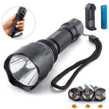High power Led Flashlight L2 T6 Q5 Tactical Linterna Torch Flash Lights lamp Bright 18650 Battery for Hunting Camping fishing