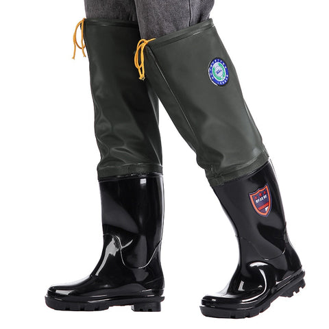 Thickened Super High Water Pants Multipurpose Rain Boots Wear-resistant Fishing Waders for Fishing Shoes Non-Slip Water Shoes