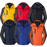 3 In 1 Couple Outdoor Winter Waterproof Windbreaker Mens Hiking Jackets Camping Softshell Outdoor Jacket Camping Hunting Coats