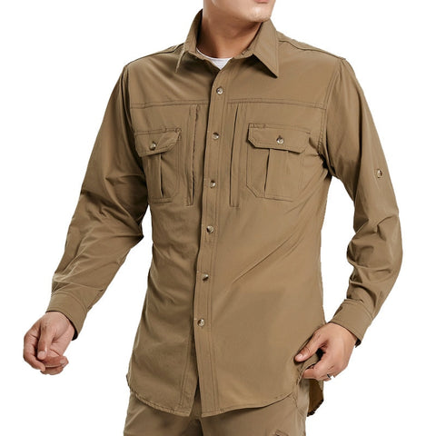 4XL Large Size Mens Stretch Quick Dry Breathable Shirt Military Clothes Tactical Shirt Outdoor Fishing Hiking Sport Shirts Pants