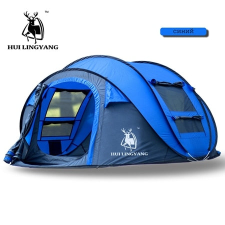 Open tent Throw pop up tents Outdoor camping Hiking automatic season Tents Speed open Family Beach large space Free shipping