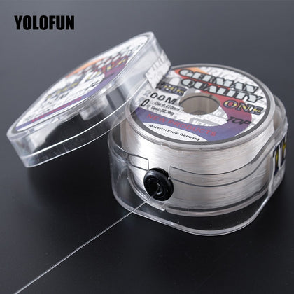 200m fluorocarbon coating fishing line white brown sinking high Abrasion Resistance stretchable peche carp carbon fishing line
