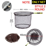 JOSBY 2.1M 3M Collapsible Catch Fishing Net Foldable Carbon Long Handle Telescopic Fish Catching Landing Nets Gear