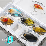 DONQL Mixed Colors Fishing Lure Set 5/8pcs Minnow Baits Kit Wobbler Crankbaits with Box Treble Hooks Fishing Tackle hard Bait