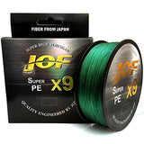 JOF X9 500M 300M 100M Braided Fishing Line 9 Strands MultiColor Multifilament Saltwater PE Line 20 24 35 40 50 65 80LB
