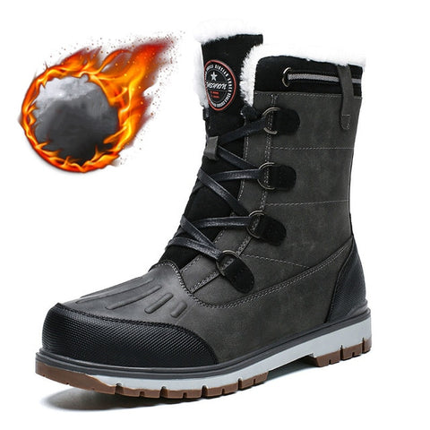 New Quality Waterproof Hilking Boots Super Warm Plush Men's Shoes Winter Ankle Boots Comfortable Hunting Boots Climbing Sneakers