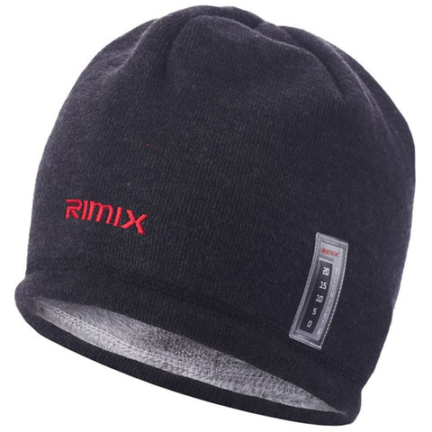 RIMIX Unisex Warm Knitted Fleece Beanies Hat Thermal Skullies Cap For Skiing Climbing Hiking Snowboarding Hunting Winter Sport