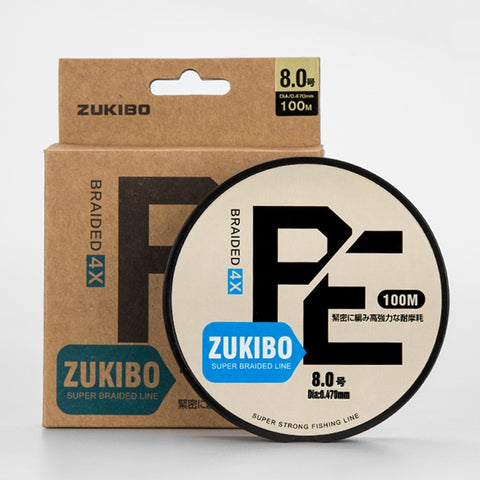 ZUKIBO 100M PE Braided Fishing Line Fly Fishing 4 and 8 Stands for Fishing Super Strong Japan Multifilament Thread Carp Fishing