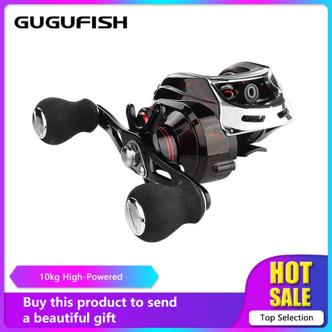 GUGUFISH Left/Right Hand Baitcasting Fishing Reel 7.2:1 Bait Casting Fishing Wheel With Magnetic Brake Carp Carretilha Pesca
