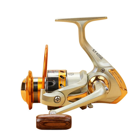 500-9000 series Distant Wheel Metal Spinning Fishing Reel 5.5:1 12 Bearing Balls Fishing Wheel Rotate the spool Fishing coil