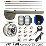 Maximumcatch 3-8WT Fly Fishing Combo 8'6''/9' Medium-fast Fly Rod Pre-spooled Fly Reel&Fly Line With Cordura Triangle Tube