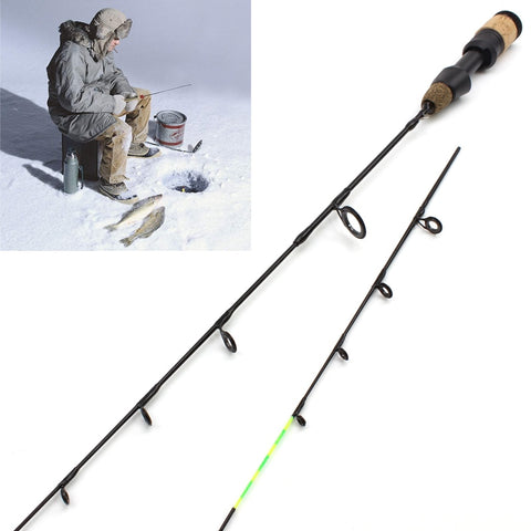 NEW 58cm Winter Ice Fishing Rods 2 tips Spinning Rod Carbon  Fiber Ice pole Ultra-light  Carp Fishing Free shipping
