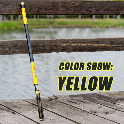 NEW Ultralight SuperHard 3.6/4.5/5.4/6.3/7.2 Meters Stream Hand Pole Carbon Fiber Casting Telescopic Fishing Rods Fish Tackle