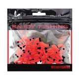 50pcs/ outdoor Winter fishing Bionic soft bait aphid 2cm/0.5g Artificial Manufacturing Soft bait sink Fishing accessories lure