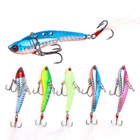 13G/18G/25G/30G Ice Metal Fishing Lure Artificial Luminous Vib Lures For Winter Fishing Vibration Jerkbait Wobblers River Tackle