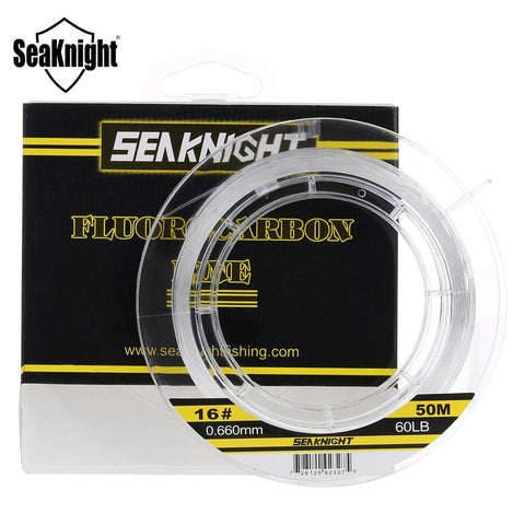 SeaKnight 50M 100M 100% Japan Material 3-100LB Fluorocarbon Fishing Lines Carbon Fiber Leader Fly Line Fast Sinking Carp Fishing