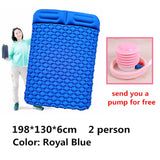 Air Camping Mats Inflatable Cushion Moistureproof Outdoor Hiking Picnic Tent Plaid Pad Home Rest Double Sleeping Bag Mattress