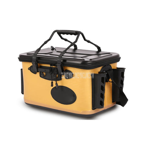Multi-functional Portable Fishing Box Thicken Live Fishing Box EVA Tank Bucket Camping Outdoor Fishing Bag Tackle With Handle