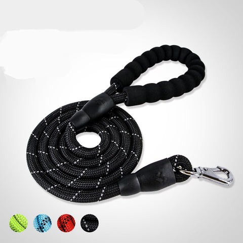 Strong Dog Thick Leashes Nylon Rope Reflective Large Size For Cat Outdoor Walking Traction Collar Lead Soft Handle Pets Product