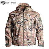 HAN WILD Outdoor Softshell Jacket Waterproof Hiking Camping Jacket Military Tactical Hunting Jackets Winter Windproof Jacket